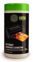 Салфетки Cactus CS-T1002 для экранов и оптики туба 100шт влажных